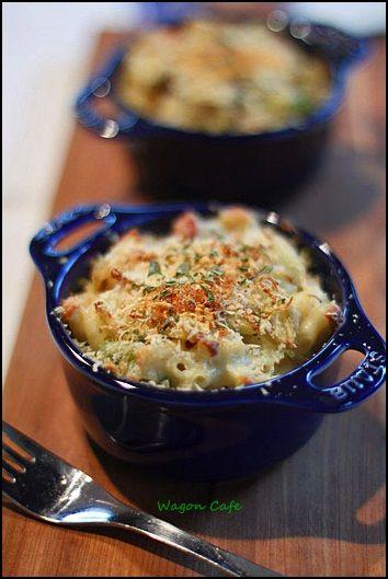 Wagon Cafe:蟹の身たっぷり♪ マカロニ&チーズ