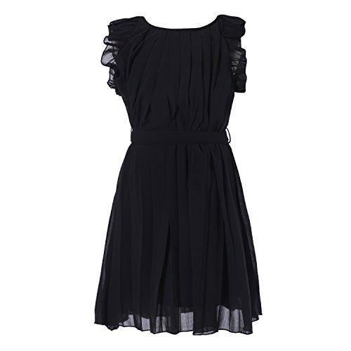 Richie House Little Girls' Pleated Dress with Belt RH0984...