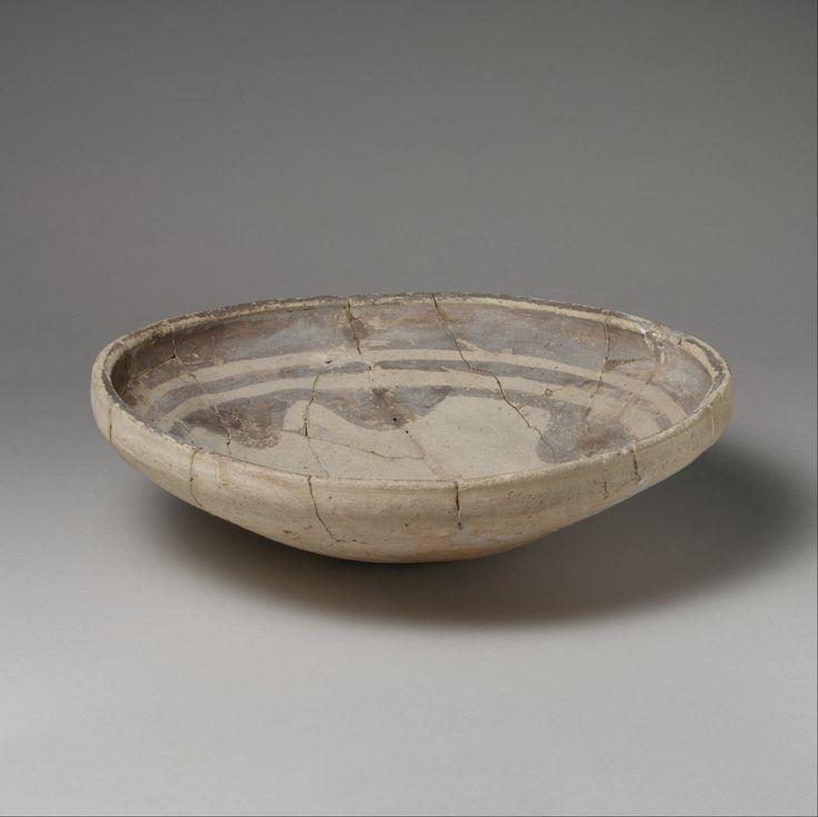 Bowl  Period:Ubaid Date:mid 6th–5th millennium B.C. Geography:Mesopotamia, Eridu (modern Abu Shahrein) Culture:Ubaid Medium:Ceramic Dimensions:H. 5.7 x Diam. 24 cm (2 1/4 x 9 1/2 in.)