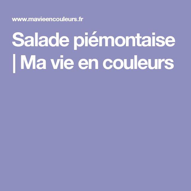 Salade piémontaise | Ma vie en couleurs