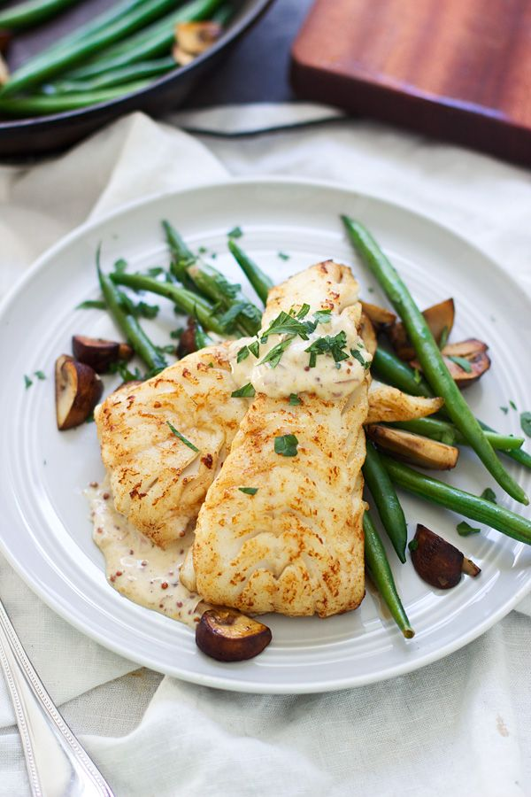 Brown Butter Seared Haddock Recipe with Mustard Cream Sauce plus 24 more gluten-free baked fish recipes