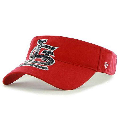 St. Louis Cardinals Women's Sparkle Adjustable Visor by '47 Brand - MLB.com Shop