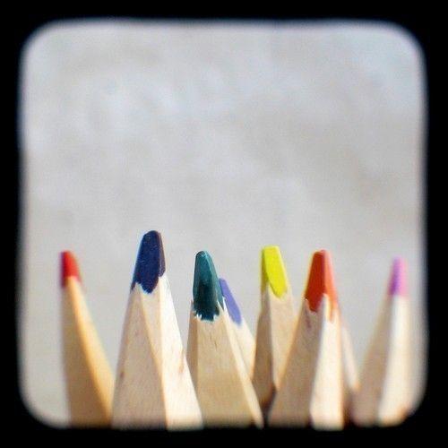 Nursery Decor Colored Pencils Photo Print 4x4 TtV Photography Kids Room Art Lovers Orange Pink Colorful Home Decor Photograph Back to School