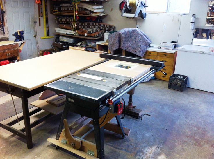 "Craftsman Table Saw Upgrades: Retractable Mobile Base, 40"" Vega Fence, Router Table Extension, Paddle Switch, Zero Clearance Insert, Micro Jig Pro Splitter, Outfeed Drafting Table. Currently working on router table fence that fits over table saw fence..."