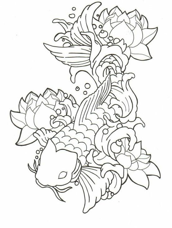 dragon fish coloring pages - photo#39