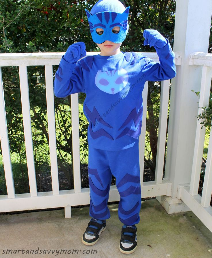 Costumi di carnevale dei Pj Masks fai da te_gatto-boy