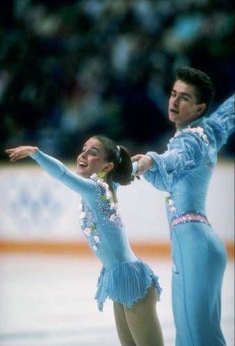 Ekaterina Gordeeva & Sergei Grinkov ~ Olympic Pair Skating Champions.  Sergei died in 1995.