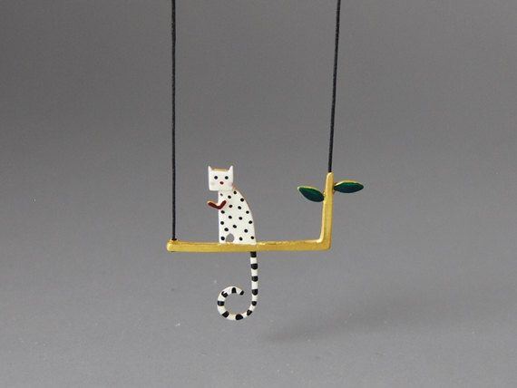 Lovecat Pendant Sterling Silver Gold Plated Nature Inspired Theme Beautiful Colours Fine Handpainted Very Special Gift for Her by kissthefrogstudio on Etsy https://www.etsy.com/listing/104076864/lovecat-pendant-sterling-silver-gold