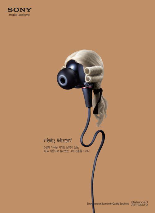 Escuchar música clásica en el walkman.