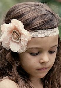 Cute flower girl headband