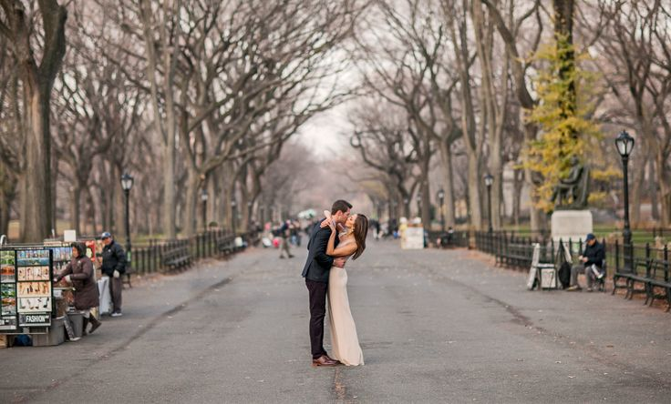 Our favorite engagement picture in New York City; where we met!  #sparklingeverafter