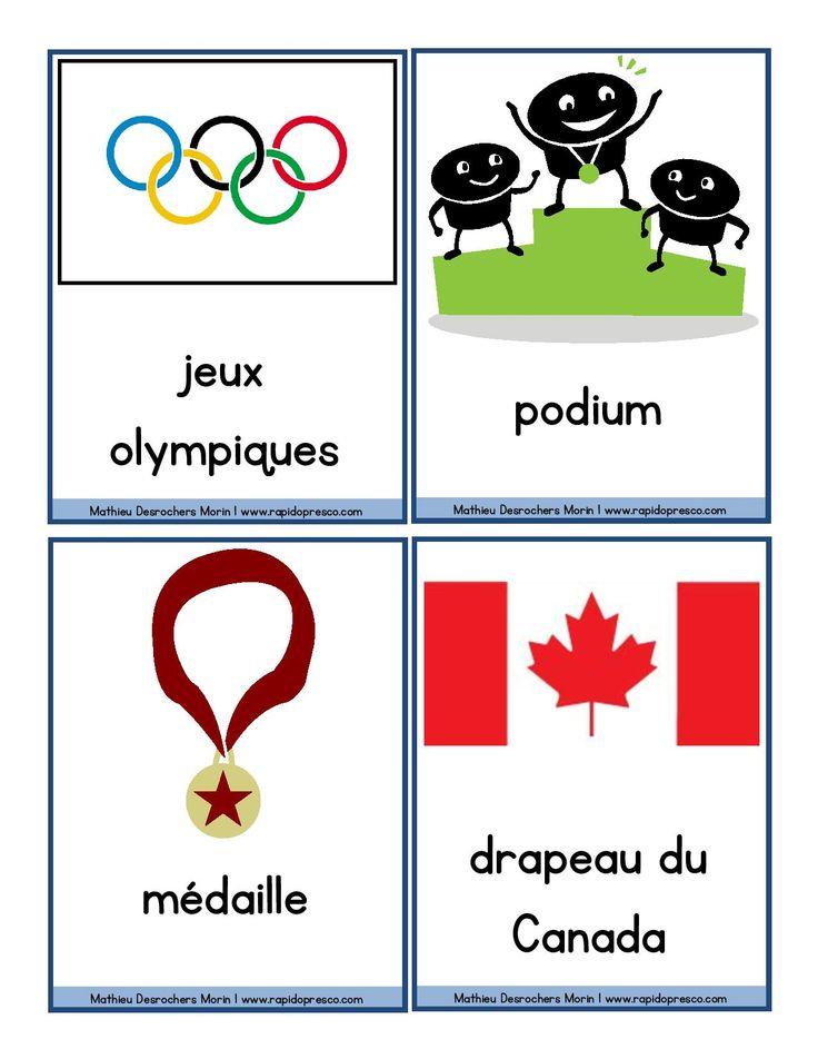Mots étiquettes des jeux olympiques d'hiver – Rapido-Présco