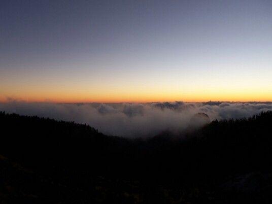Sunset tenerife teide sky wolkenmeer gorgeous