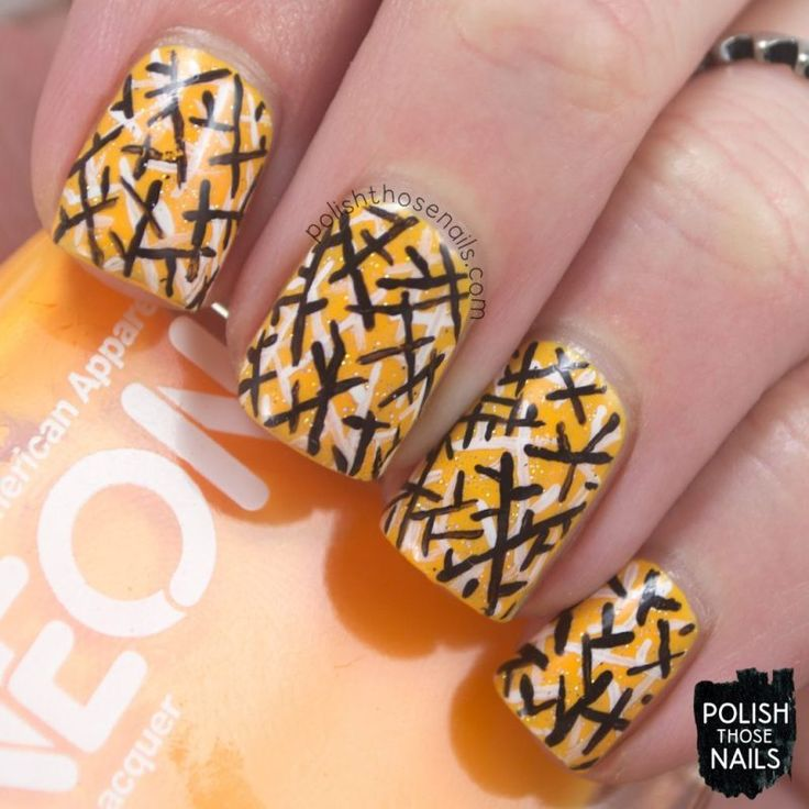 Neon Geometric Dust // Polish Those Nails // The Digit-al Dozen - Inspired By Each Other // Inspired by Olivia Jade Nails // nail art - american apparel - china glaze - free hand