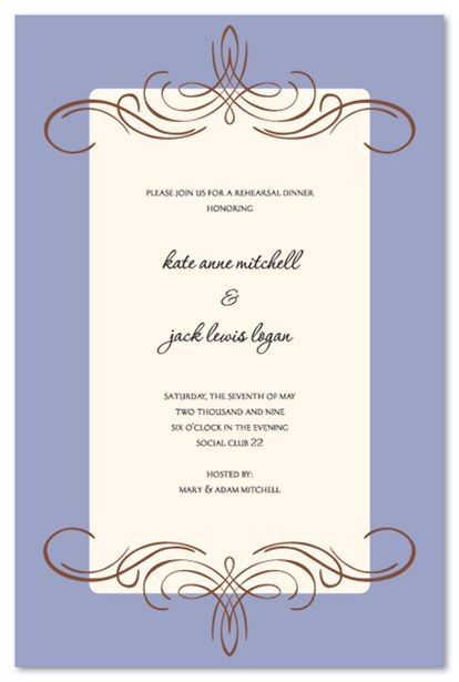 37 best Rehearsal Dinner Invitations images on Pinterest - business dinner invitation sample