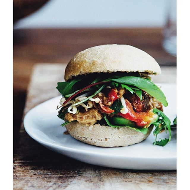 The Seitan Satay bap! Now that I'm doing only smoothies and soups for a few days, I have more time…