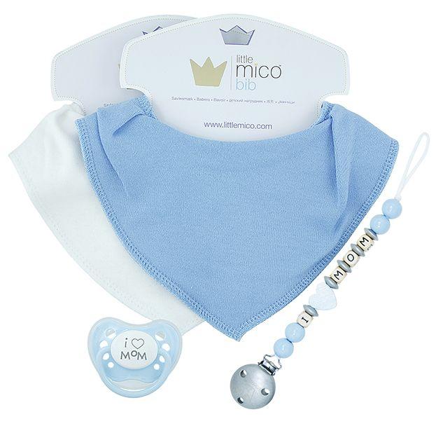 Littlemico™ Blue Gift Set, I Love Mom.