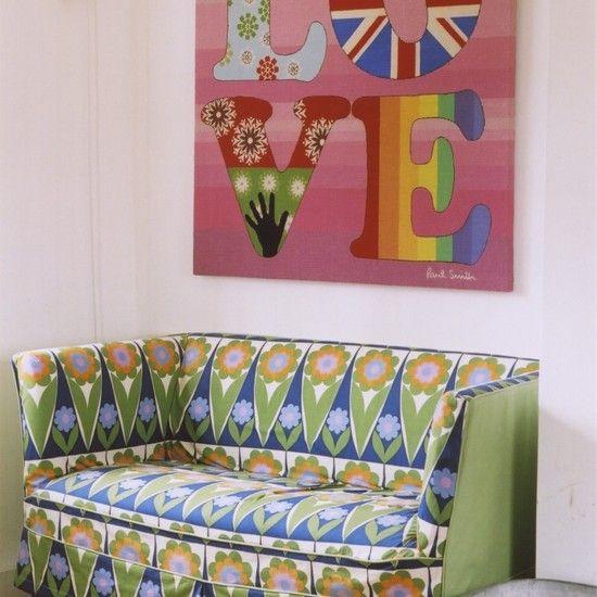 Retro pattern sofa ❤