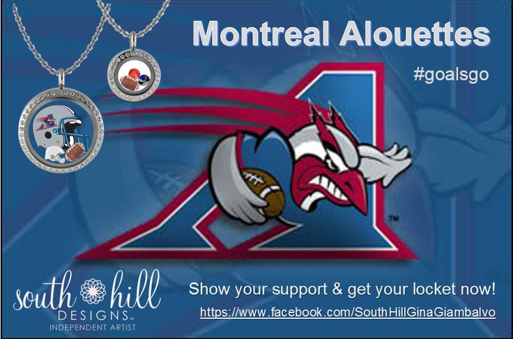 #goalsgo #Alouettes Montreal CFL. Custom lockets from South Hill Designs by Independent Artist Gina Giambalvo