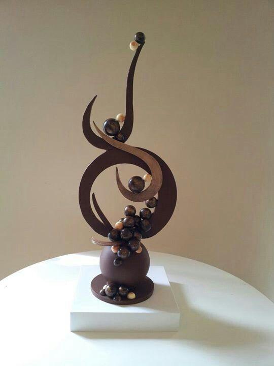 #Chocolate sculpture. #chocolate #week #sculpture #sweet #delicious #make #dessert #home #yourhomemagazinewww.hebertcandies.com