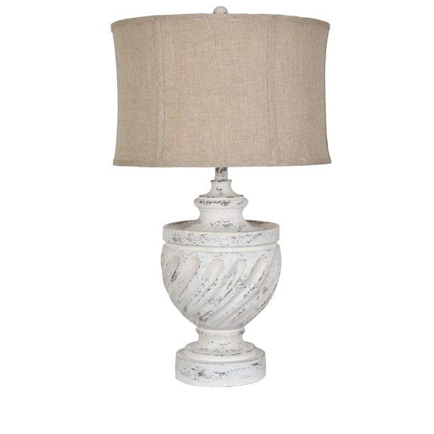 Swirled 29 Antique White Table Lamp Walmart Com White Table Lamp Lamp White Urn