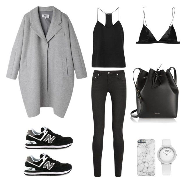"""Chilly"" by fashionlandscape ❤ liked on Polyvore featuring мода, New Balance, MM6 Maison Margiela, BLK DNM, TIBI и Mansur Gavriel"