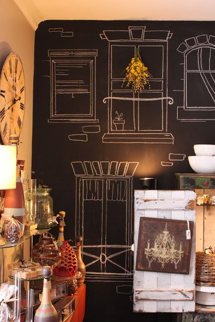 chalkboard windows | Inspired by Charm