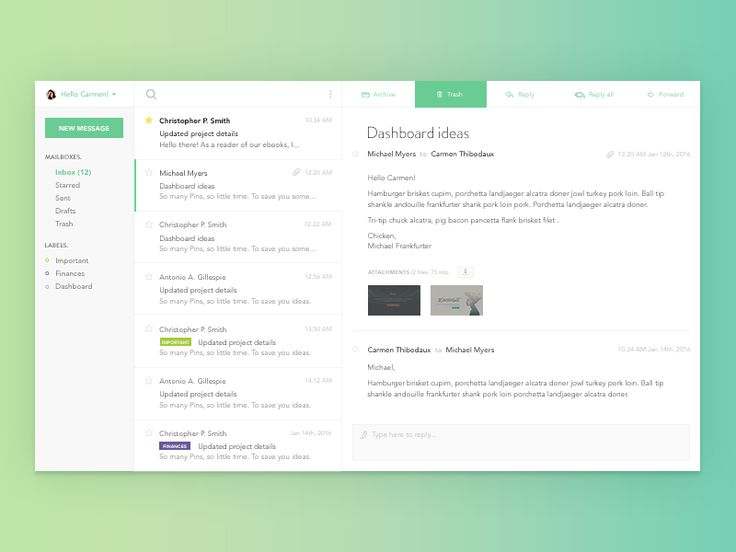 We've curated the best email application designs on Dribbble for your inspiration.
