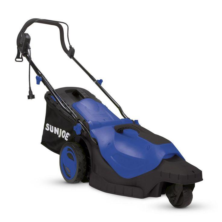 16 in. 12 Amp 360° 3-Wheel Corded Electric Walk-Behind Push Lawn Mower Blue