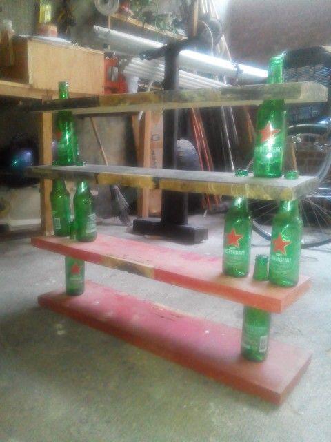 bottle rack upcycled