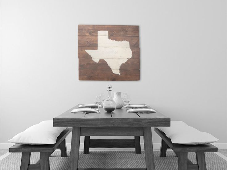 Rustic Texas Wall Art, State Sign, Home Decor, Map Art, Personalized, Part 19
