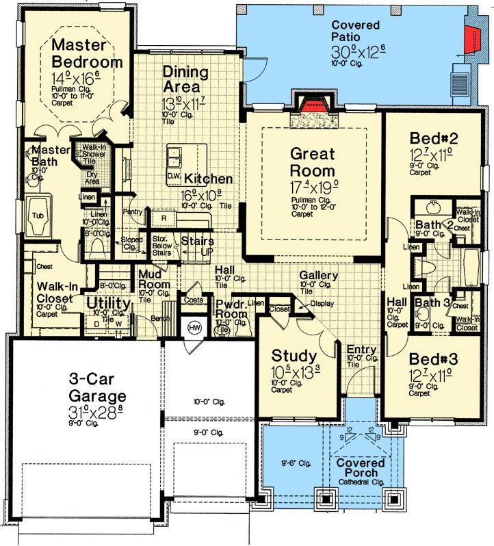 3 Bed Exclusive Craftsman House Plan - 48529FM | Craftsman, European, Exclusive, 1st Floor Master Suite, Bonus Room, Butler Walk-in Pantry, Den-Office-Library-Study, Jack & Jill Bath, Media-Game-Home Theater, Split Bedrooms | Architectural Designs