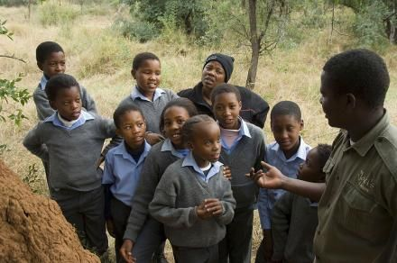 Molatedi school children experiencing the wonders of Madikwe. Social Responsibility | Community Service| Community Projects | Community Development | Recycling at Jaci's Lodges in Madikwe