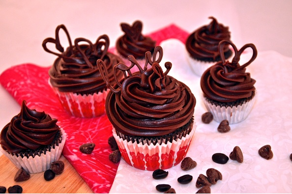 Type A Baker - Delicious Dark Chocolate Java Infused Cupcakes