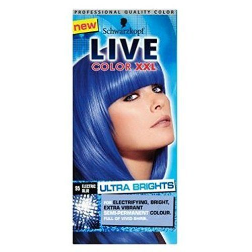 Schwarzkopf Live Color Xxl Ultra Brights 95 Electric Blue Semi-Permanent Blue Hair Dye * You can find more details by visiting the image link. #hairoftheday