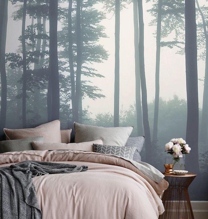 tendance papier peint pour chambre adulte finest dlicieux. Black Bedroom Furniture Sets. Home Design Ideas