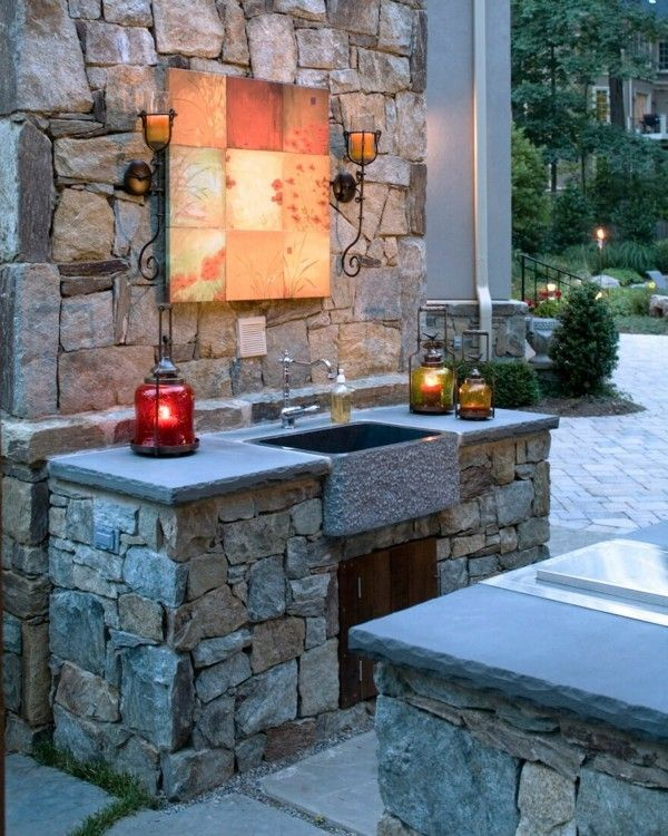 15 Most Outrageous Outdoor Kitchen Sink Station Ideas: 90 Best Outdoor Kitchens And BBQ's Images On Pinterest
