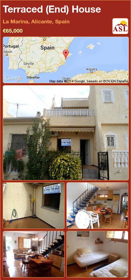 Terraced (End) House in La Marina, Alicante, Spain ►€65,000 #PropertyForSaleInSpain