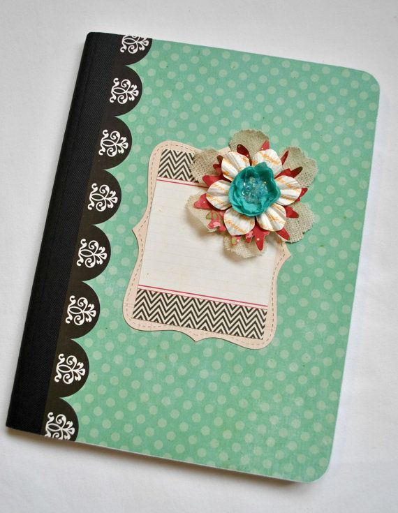 Altered Notebook/Journal by SoScrappyHappy on Etsy, $6.00