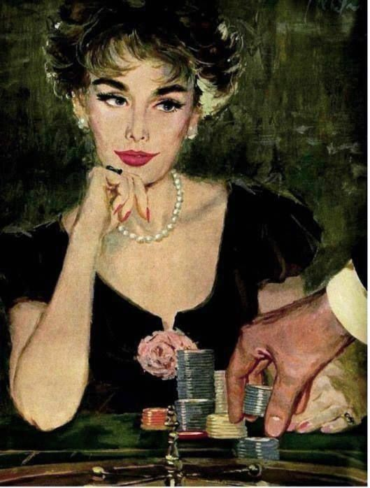 Whitmore, Coby (b,1913)- Woman Playing Roulette