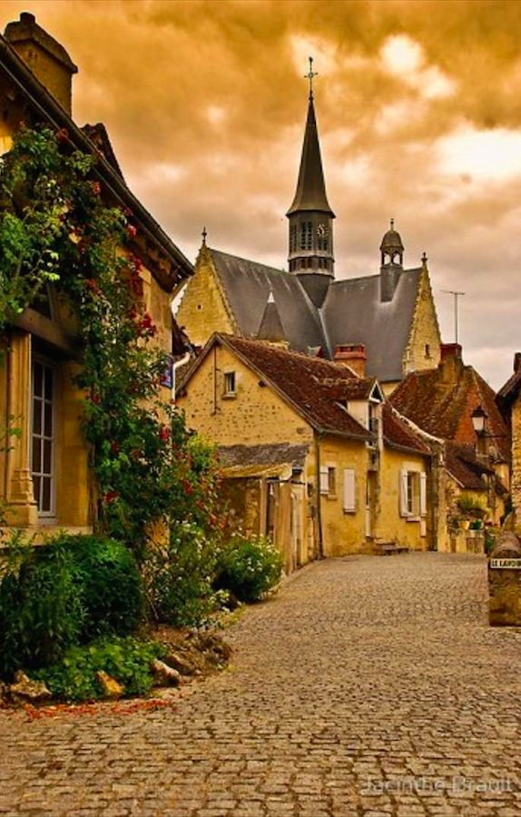 Beautiful Montrésor in the Loire Valley of France • photo: Jacinthe Brault on RedBubble