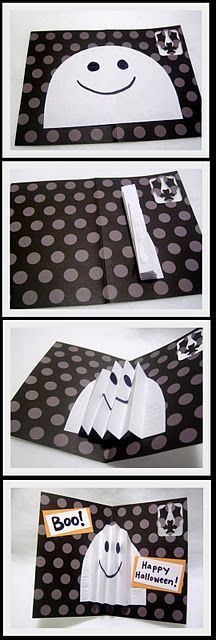 Pop-Out Ghost Halloween Card