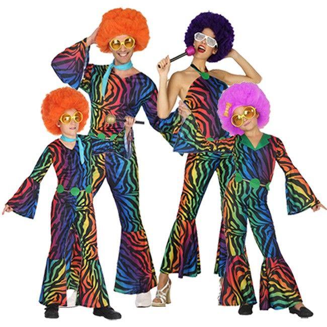 Familia Disco Retro #disfraces #carnaval #disfracesparagrupos