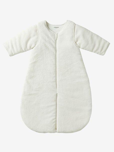 Microfibre Sleep Bag With Detachable Long Sleeve, For Strolling - ecru, Bedroom