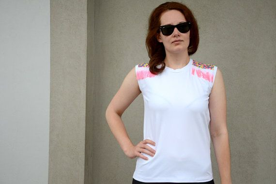 Foxy Lady Jimi Hendrix Inspired White Top with by EvitaClothing, €30.00