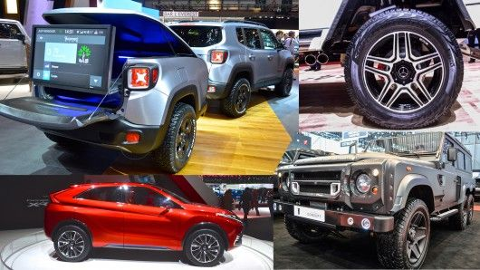 While they weren't as strong a fleet as sports cars or concept cars, crossovers and 4x4s had a solid presence at the Geneva Motor Show, anchored by the global debuts of some extremely rugged off-roaders.