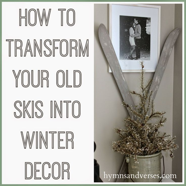 Hymns and Verses: Transform Your Old Skis Into Winter Decor With Paint