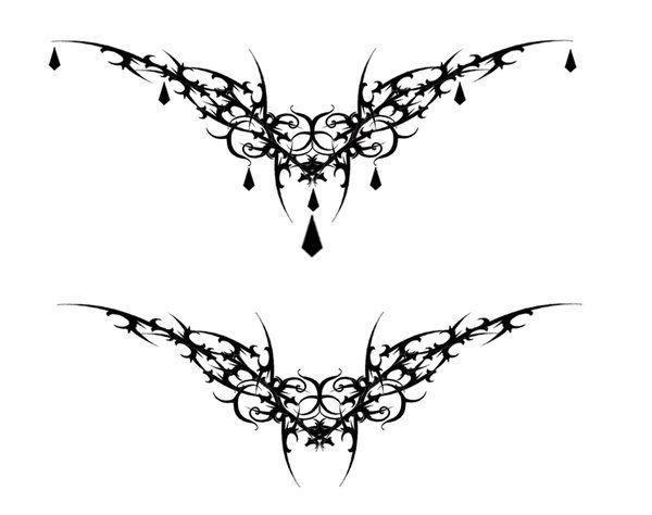 Gothic Vamp Heart Tat V2 by Quicksilverfury.d… on @deviantART