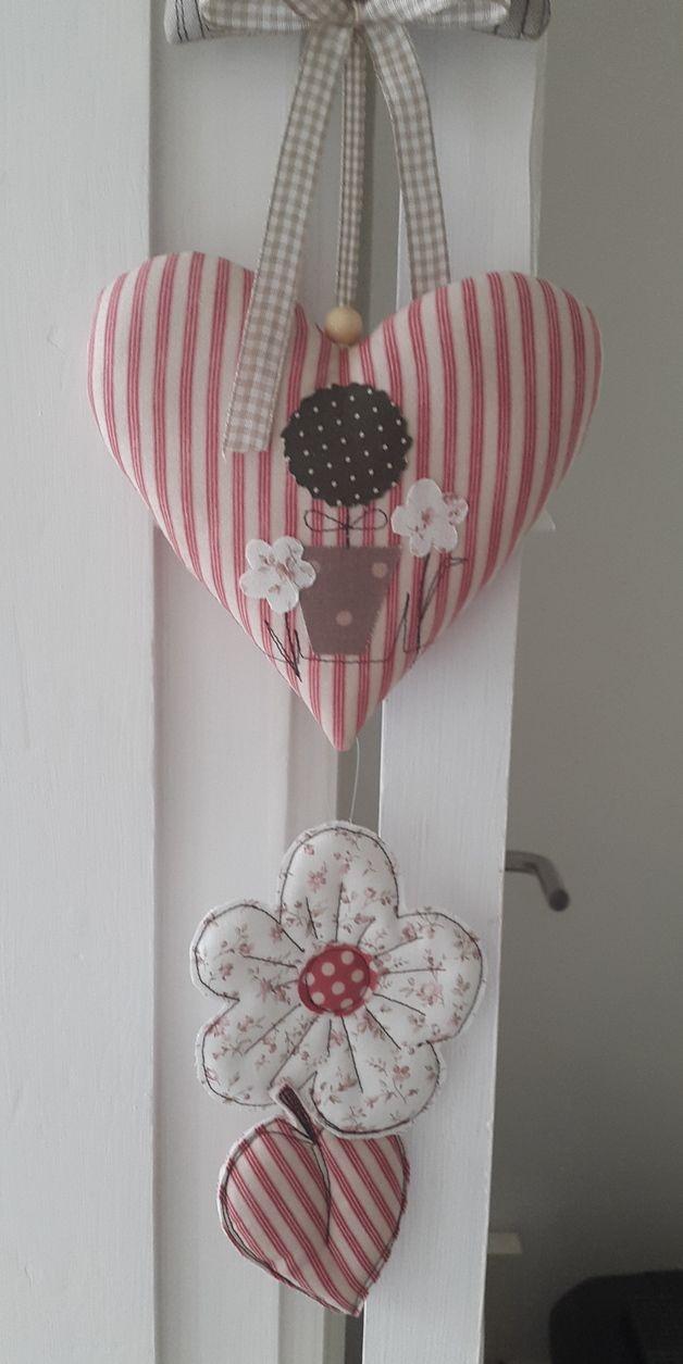 Girlanden & Wimpelketten - Frühling Haus Girlande Blumen Herz Landhaus - ein Designerstück von Feinerlei bei DaWanda