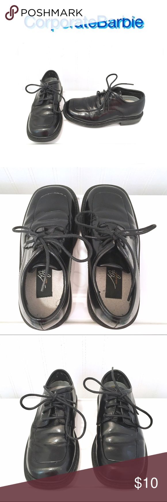 Boys Dress Shoes, Size 11.5 Boys dress shoes from Michael James. Black leather. Size 11.5. Worn to two weddings and still in great condition. Shoes Dress Shoes